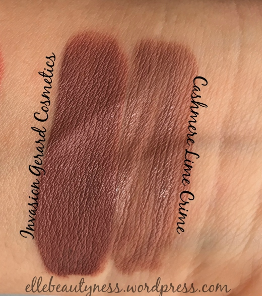 invasion cashmere gerard cosmetics lime crime swatch liquid lipstick velevetin hydra matte luce solare.jpg