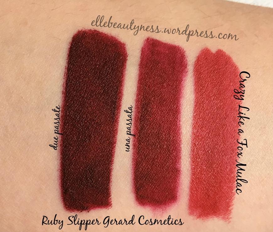 ruby slipper hydra matte gerard cosmetics swatch comparazione crazy like a fox rossetto mulac.jpg