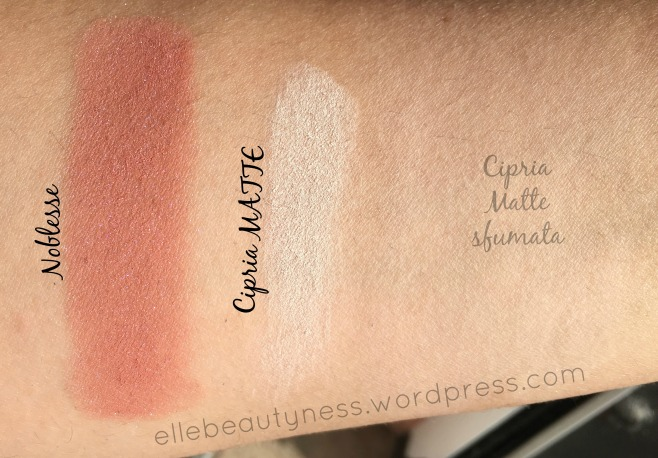 MINERAL eyeshadow ombretti minerali neve cosmetics days promo swatch review blush noblesse cirpria matte.jpg