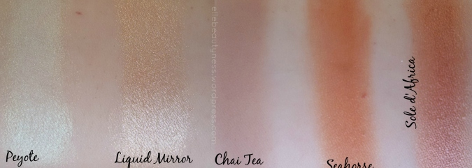 MINERAL eyeshadow ombretti minerali neve cosmetics days promo swatch review  peyote liquid mirror chai tea seahorse sole d africa vany.jpg