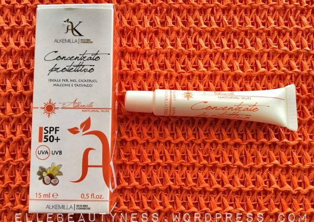 alkemilla natural sun suncream solari creme spf naturale concentrato tatuaggi cicatrici macchie fototipo review recensione laubeauty coupon confezione.JPG