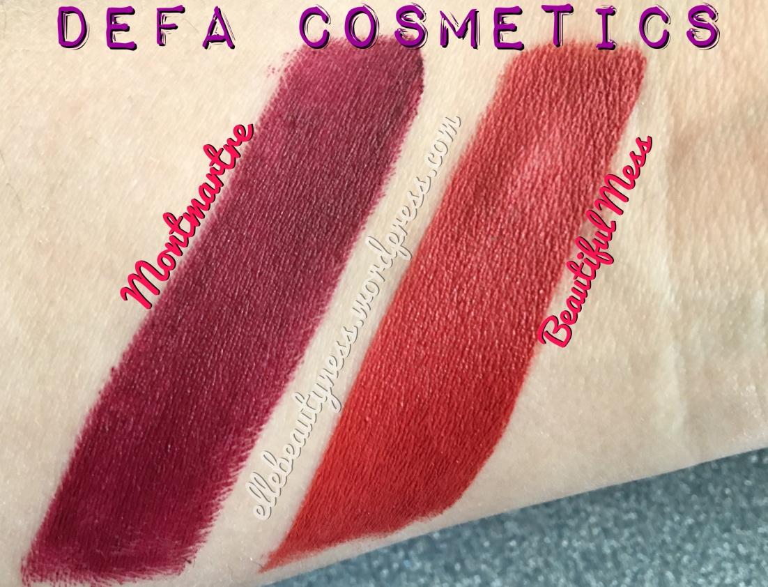 defa cosmetics review recensione rossetti lipsticks montmartre beautiful mess elle beautyness velvet matt blog swatch swatches .JPG