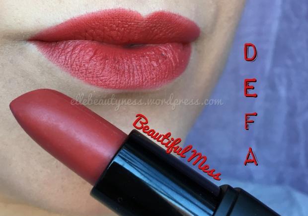 defa cosmetics review recensione rossetti lipsticks swatch su labbra beautiful mess elle beautyness velvet matt blog.JPG