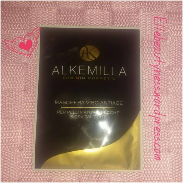 Maschera viso anti-age Alkemilla review elle beautyness recensione opinione